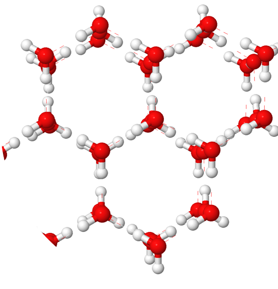 Structure of Ice Molecules