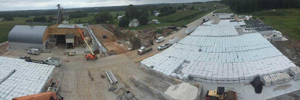 aerial plant construction